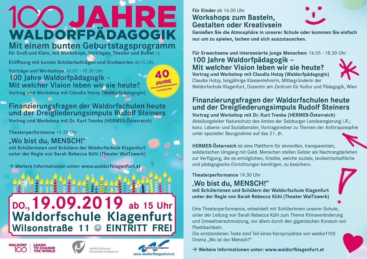 Die lange Nacht der Waldorfschulen in Klagenfurt