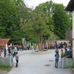 Start der Staffel von der Waldorfschule Karl Schubert Graz nach Eisenstadt