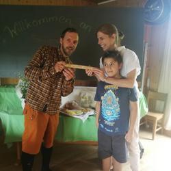 Ankunft der Staffel in der Familienschule Rheintal