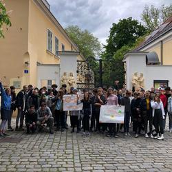 Ankunft des Staffelholzes in Wien-Plötzleinsdorf