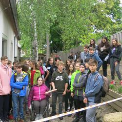 Die Staffel der Waldorfschule Karl Schubert Graz kurz vor dem Start nach Eisenstadt
